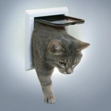 Kattdörr - 2-vägs - Vit