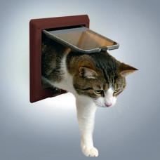 Kattdörr med tunnel - 4-vägs - Brun