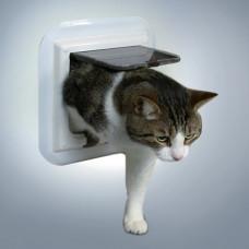 Kattdörr för glas - 4-vägs - Vit