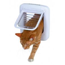 Kattdörr Elektromagnetisk - 4-vägs - Vit